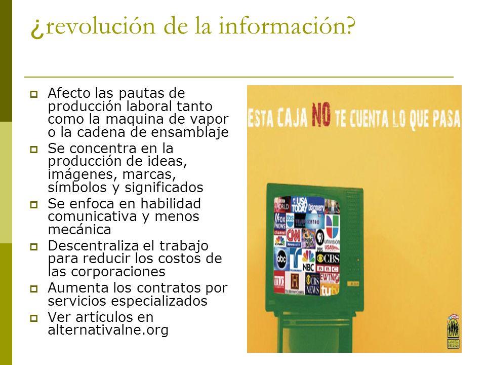 ¿revolución de la información