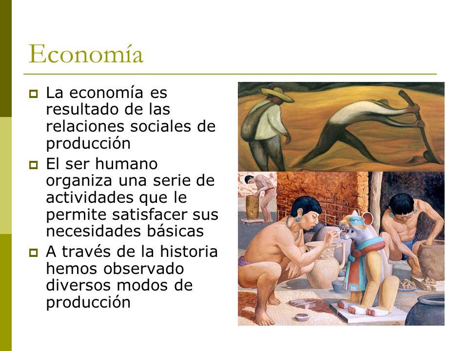 EconomíaLa economía es resultado de las relaciones sociales de producción.