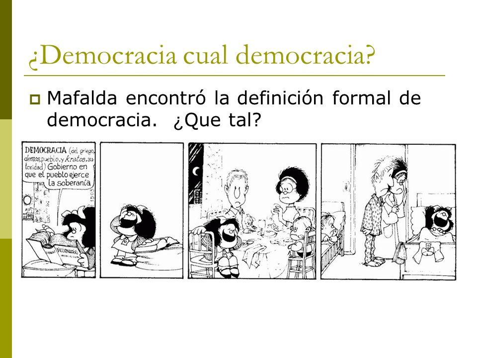 ¿Democracia cual democracia