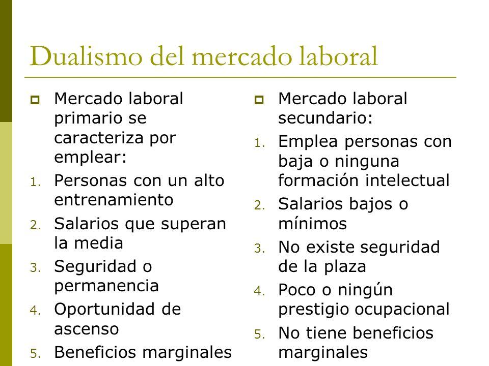 Dualismo del mercado laboral