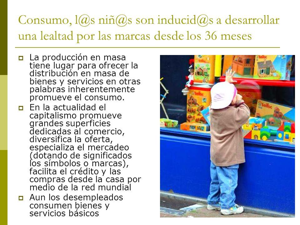 Consumo, l@s niñ@s son inducid@s a desarrollar una lealtad por las marcas desde los 36 meses