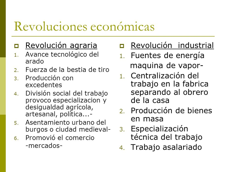 Revoluciones económicas