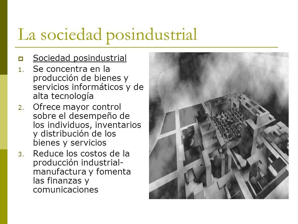 La sociedad posindustrial