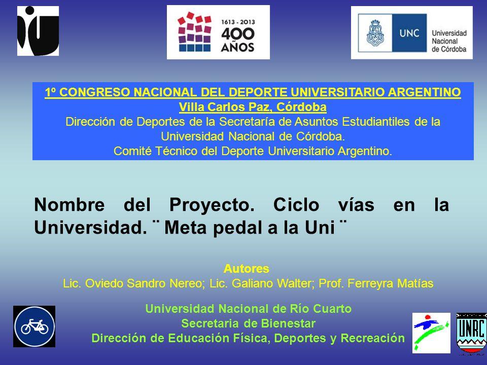 1º CONGRESO NACIONAL DEL DEPORTE UNIVERSITARIO ARGENTINO