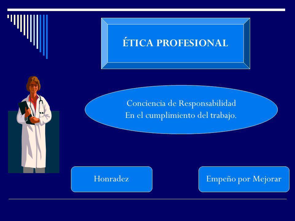 ÉTICA PROFESIONAL Conciencia de Responsabilidad