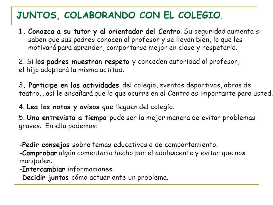 JUNTOS, COLABORANDO CON EL COLEGIO.