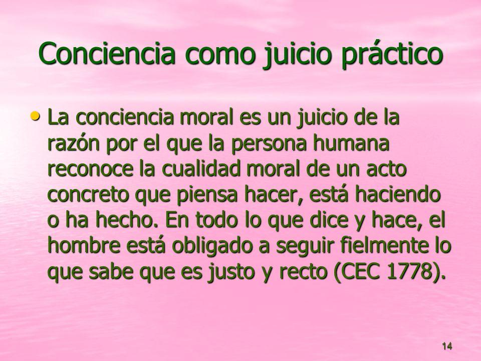 Conciencia como juicio práctico