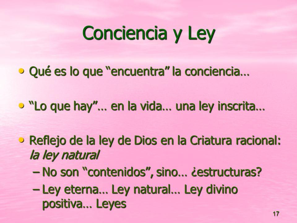Conciencia y Ley Qué es lo que encuentra la conciencia…