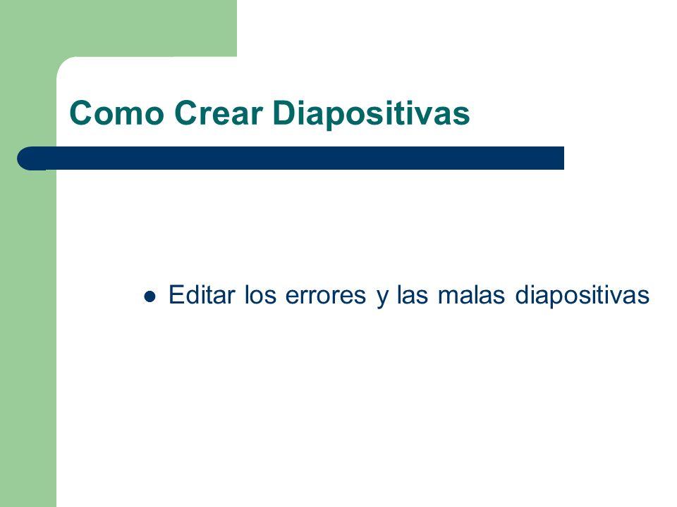 Como Crear Diapositivas