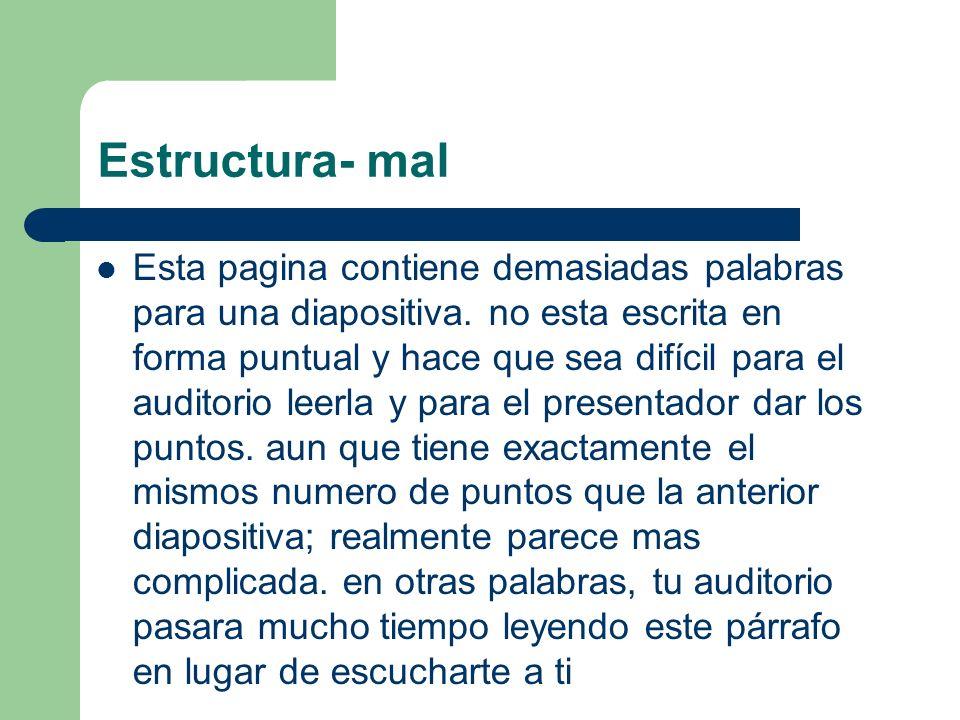 Estructura- mal