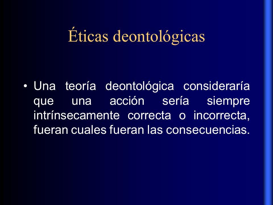 Éticas deontológicas