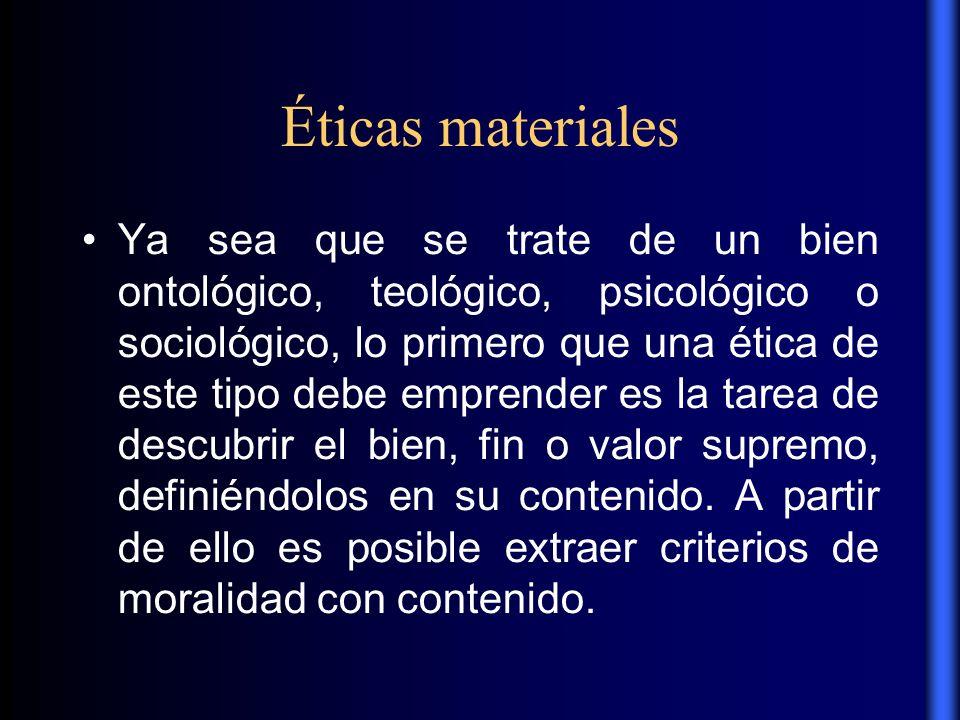Éticas materiales