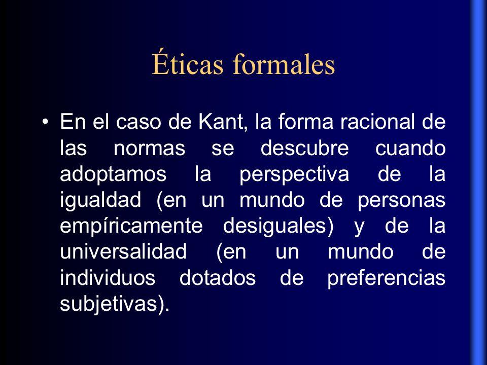 Éticas formales