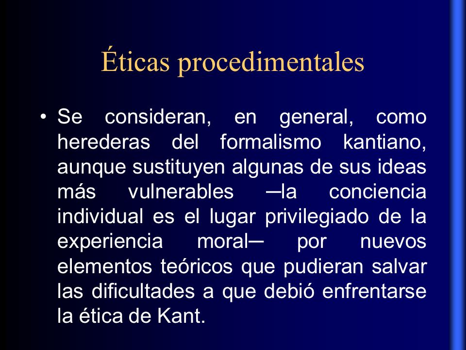 Éticas procedimentales