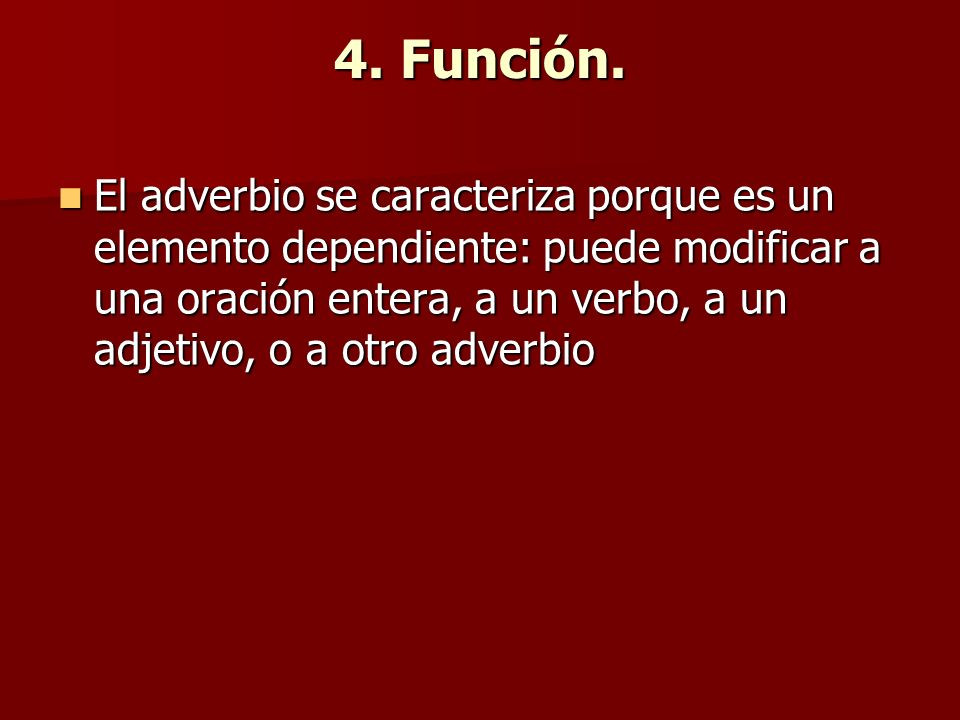 4. Función.
