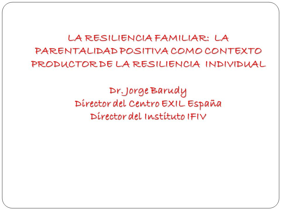 Director del Centro EXIL España Director del Instituto IFIV