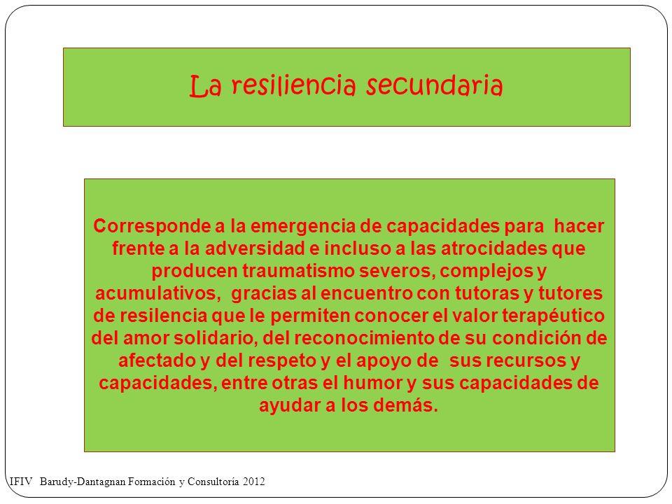 La resiliencia secundaria