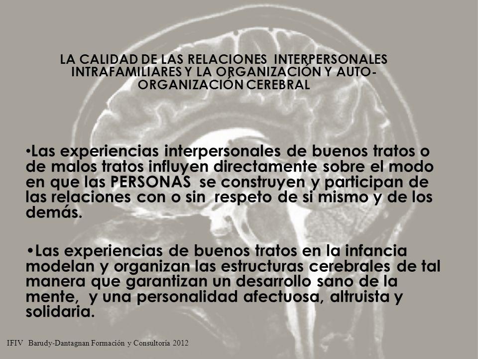 LA CALIDAD DE LAS RELACIONES INTERPERSONALES INTRAFAMILIARES Y LA ORGANIZACIÓN Y AUTO-ORGANIZACIÓN CEREBRAL
