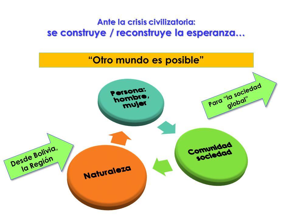 Ante la crisis civilizatoria: se construye / reconstruye la esperanza…