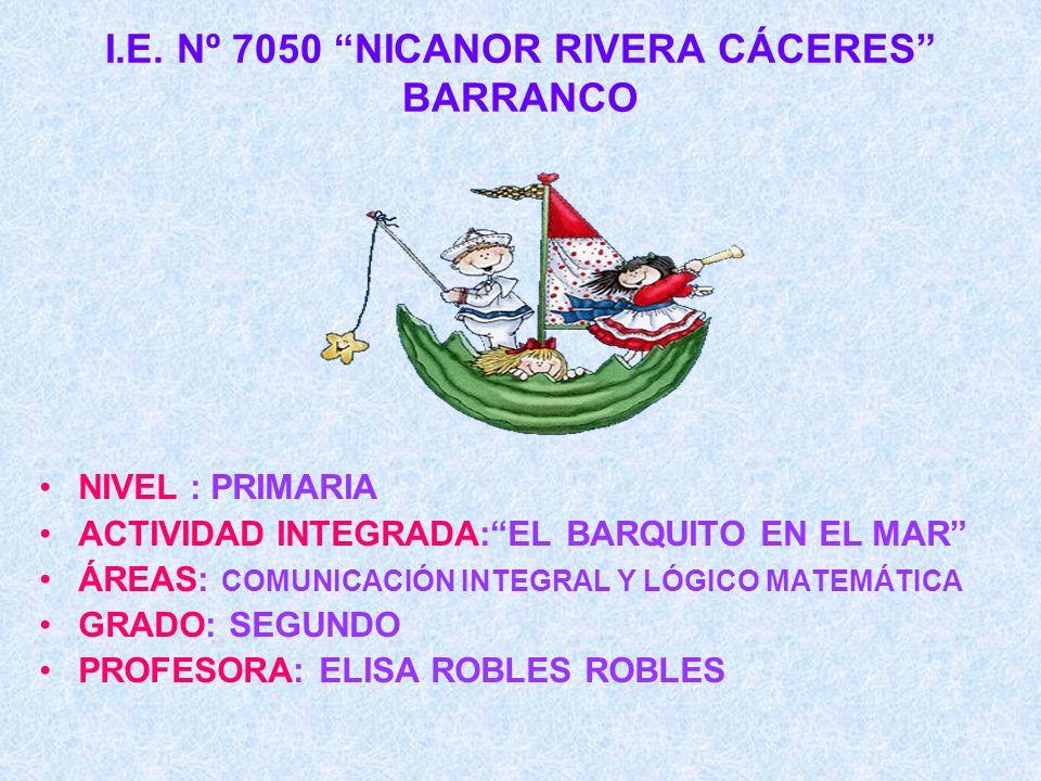 I.E. Nº 7050 NICANOR RIVERA CÁCERES BARRANCO