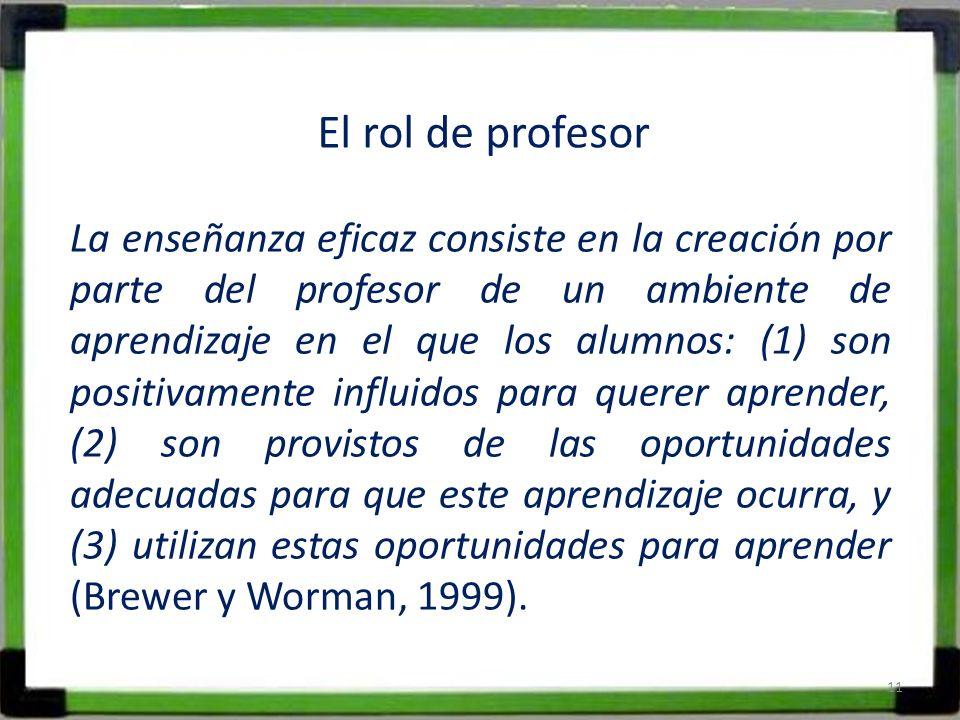 El rol de profesor