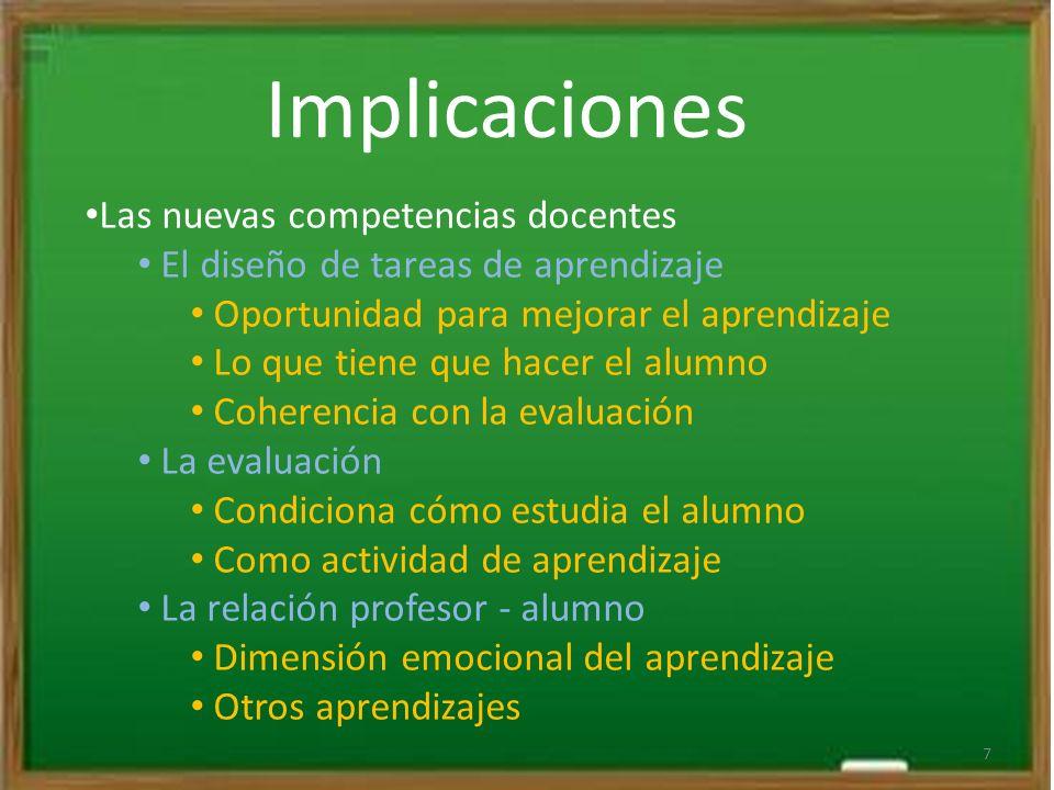 Implicaciones Las nuevas competencias docentes