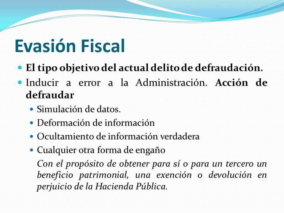 Evasión Fiscal El tipo objetivo del actual delito de defraudación.