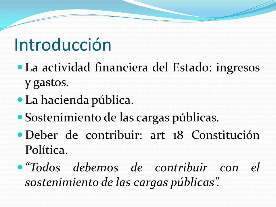 Introducción La actividad financiera del Estado: ingresos y gastos.