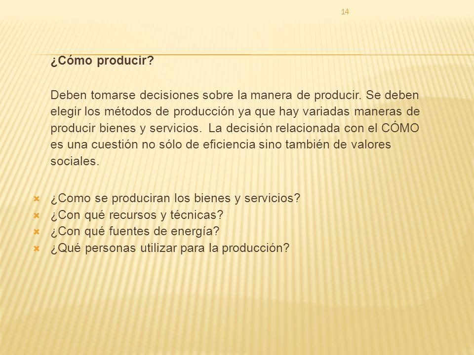 ¿Cómo producir