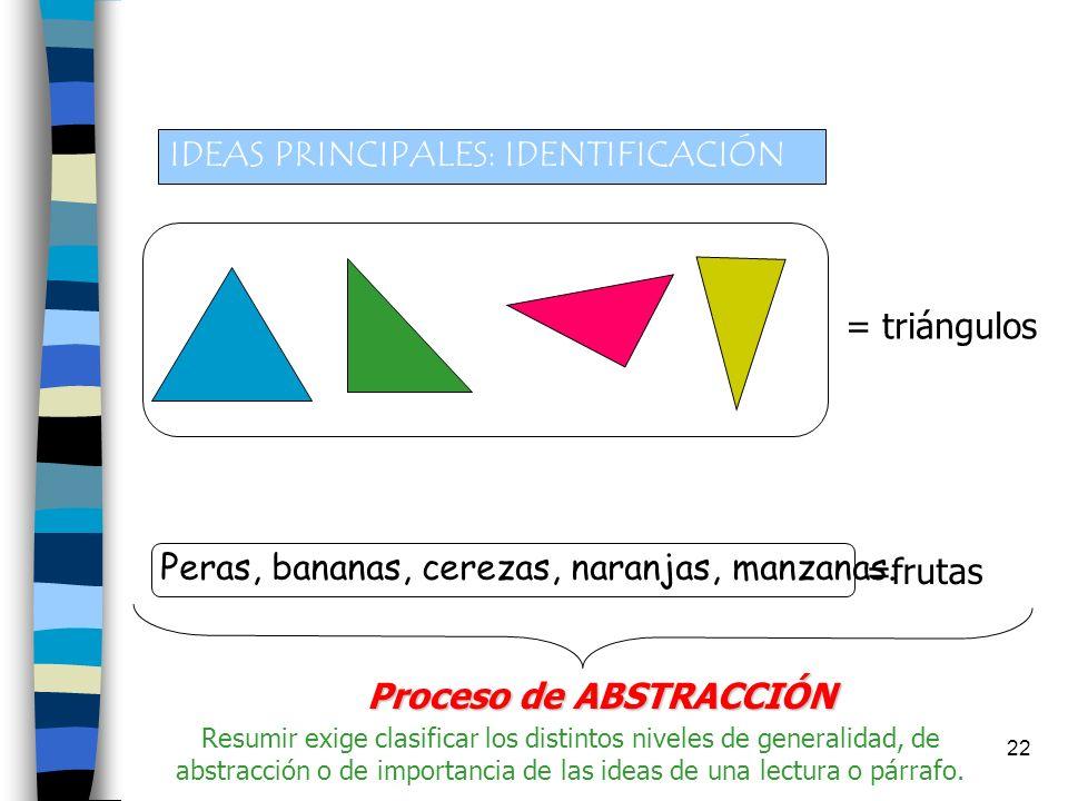 IDEAS PRINCIPALES: IDENTIFICACIÓN