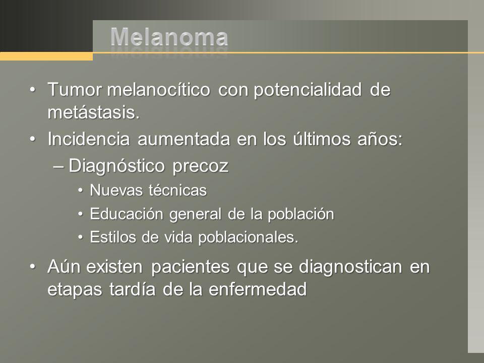 Tumor melanocítico con potencialidad de metástasis.