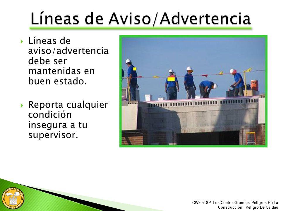 Líneas de Aviso/Advertencia