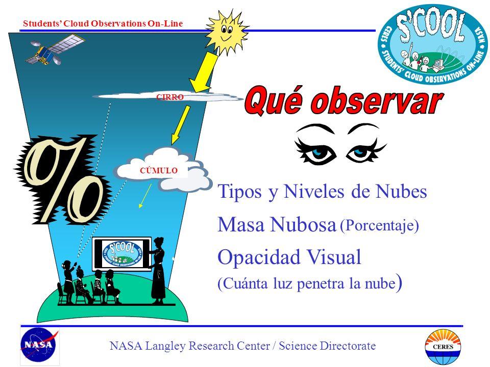 Qué observar Masa Nubosa Opacidad Visual Tipos y Niveles de Nubes