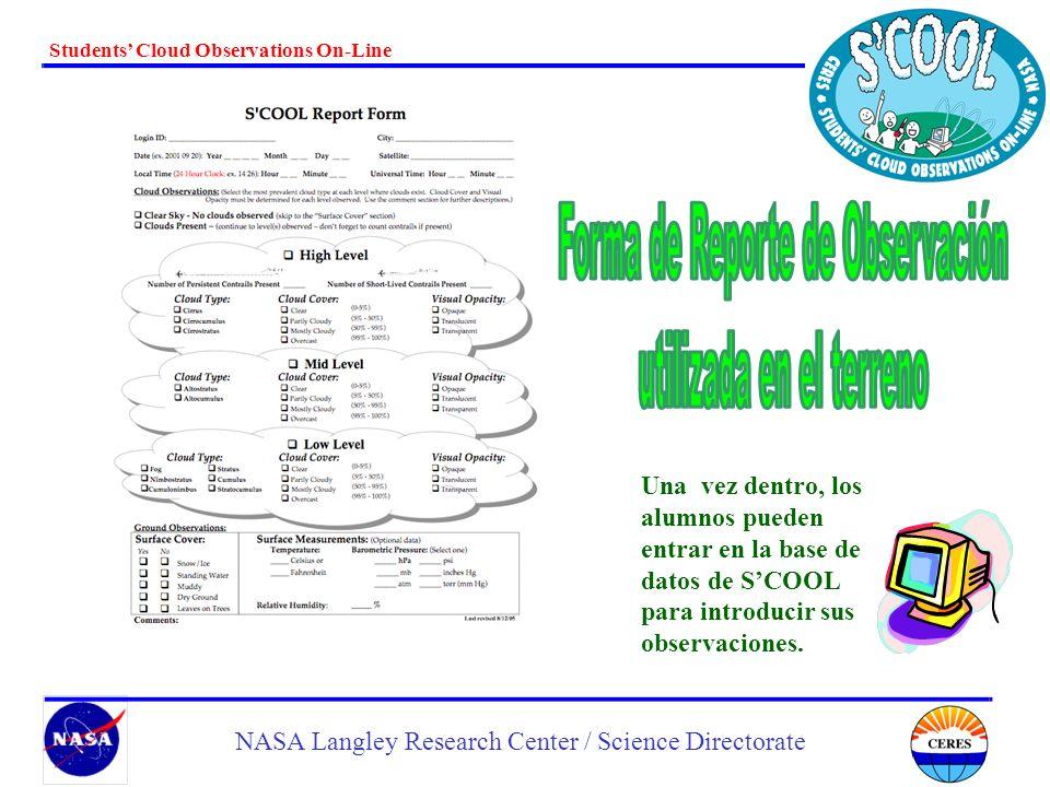 Forma de Reporte de Observación utilizada en el terreno
