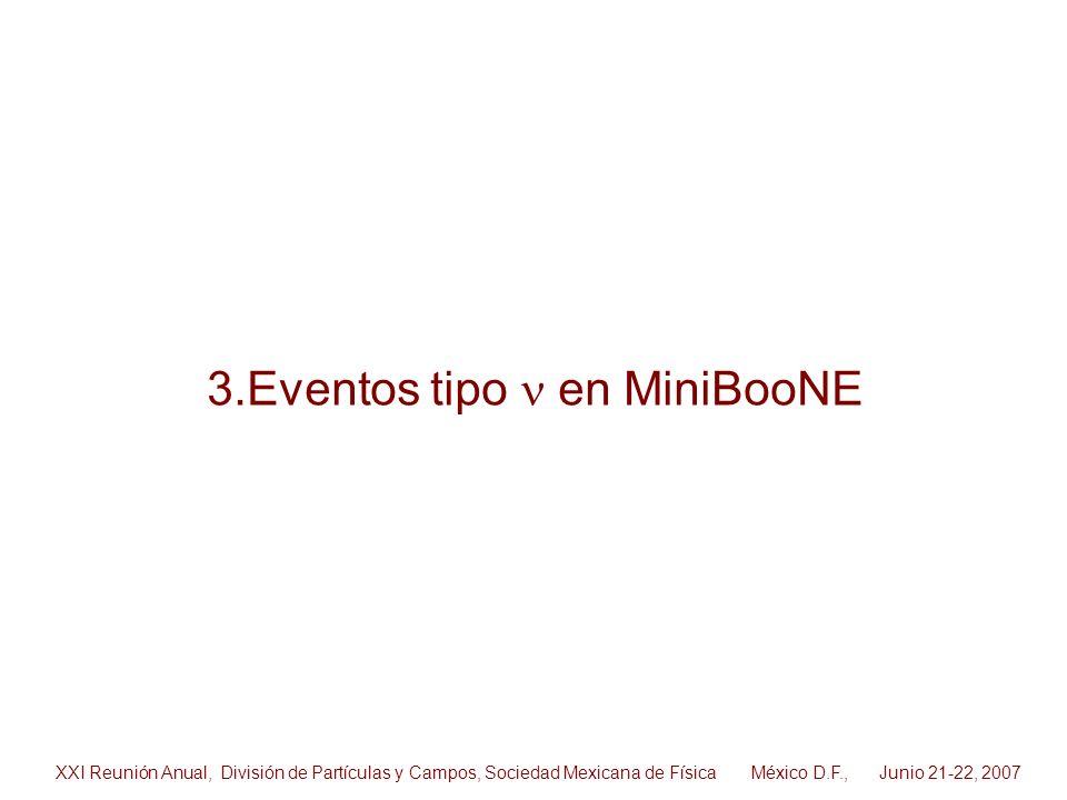 3.Eventos tipo n en MiniBooNE