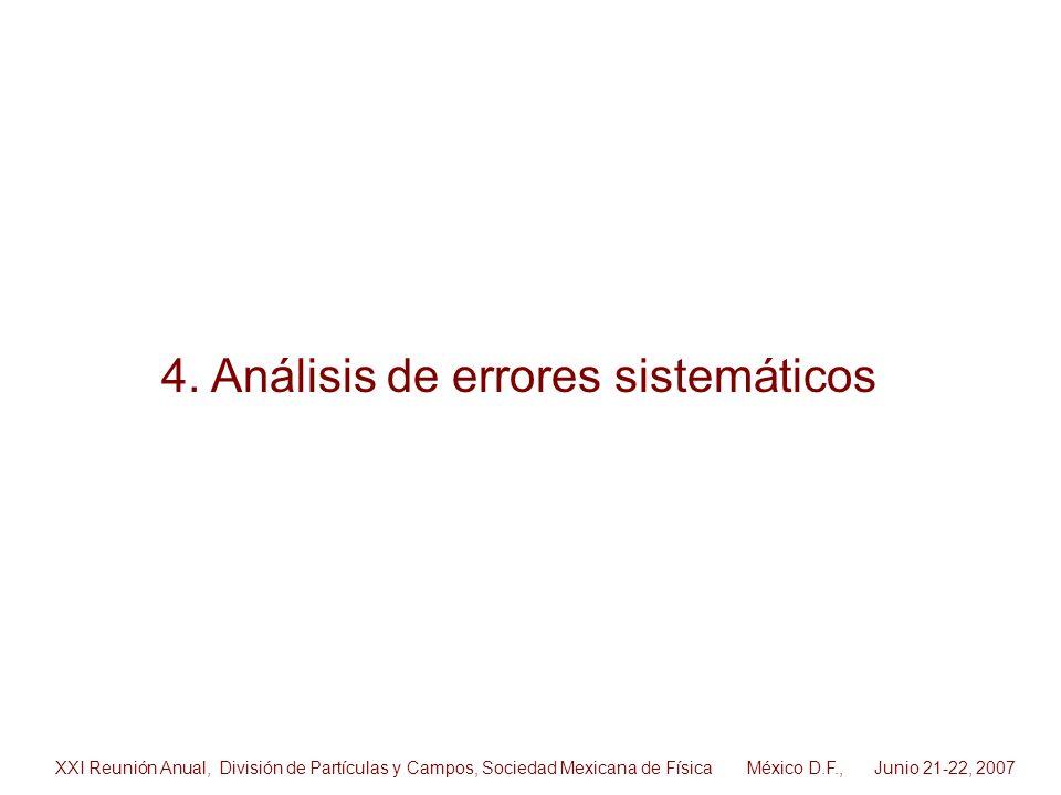 4. Análisis de errores sistemáticos