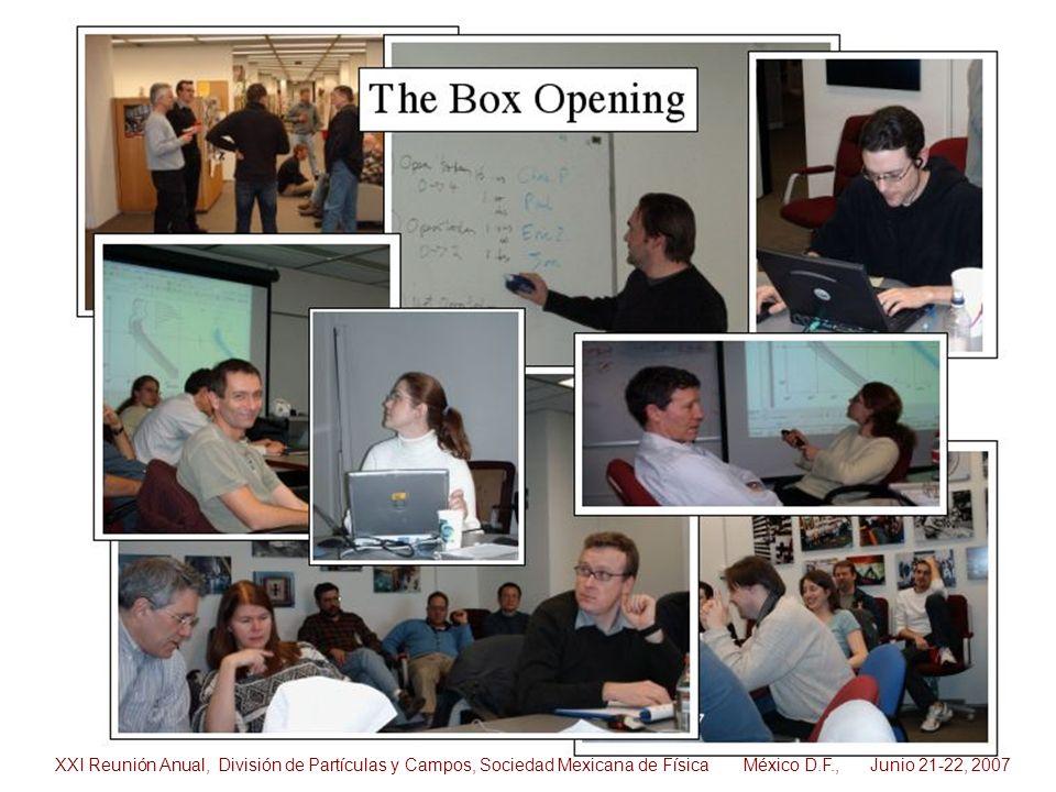 XXI Reunión Anual, División de Partículas y Campos, Sociedad Mexicana de Física México D.F., Junio 21-22, 2007