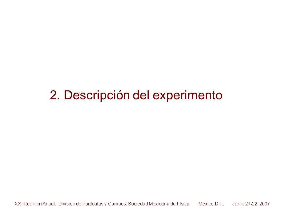 2. Descripción del experimento