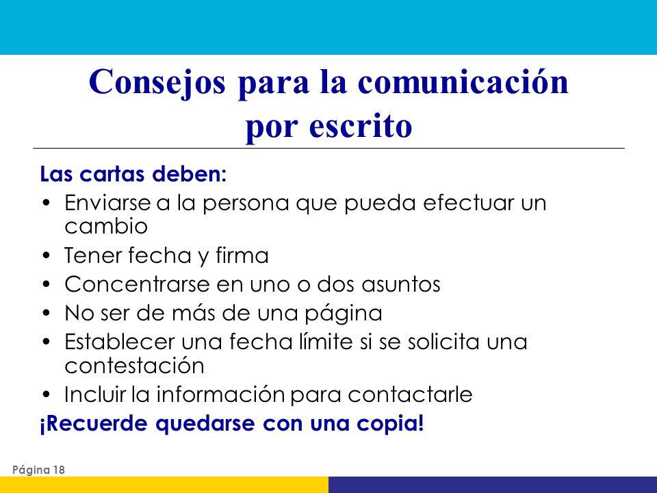 Consejos para la comunicación por escrito