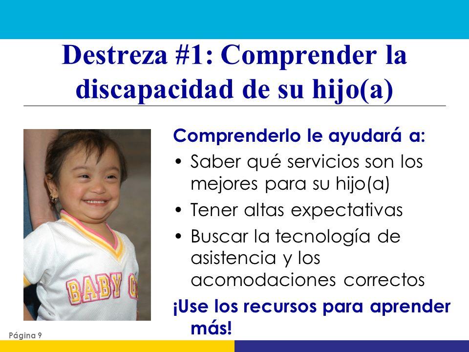Destreza #1: Comprender la discapacidad de su hijo(a)