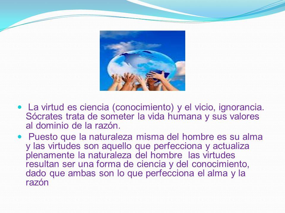 La virtud es ciencia (conocimiento) y el vicio, ignorancia