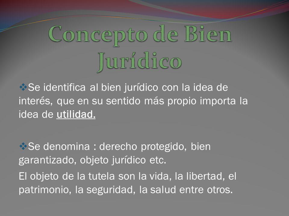 Concepto de Bien Jurídico