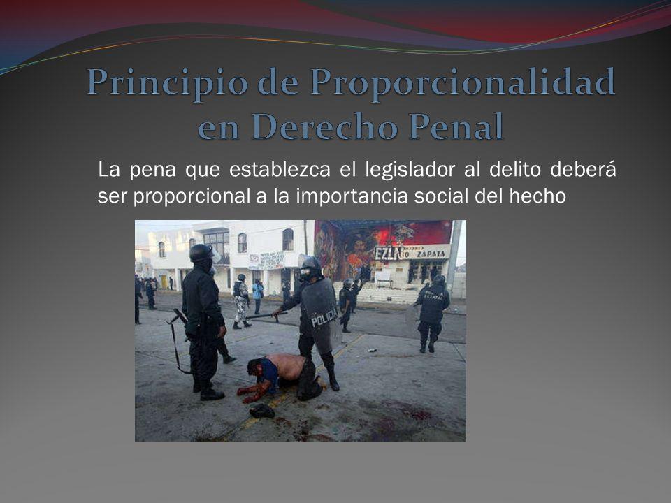 Principio de Proporcionalidad en Derecho Penal