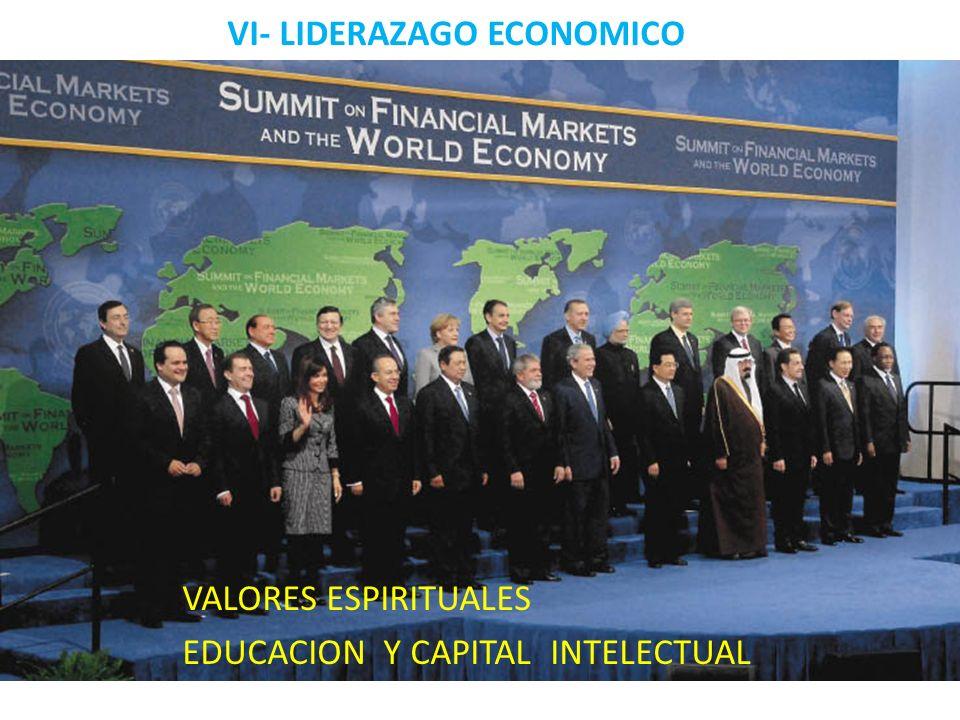 VI- LIDERAZAGO ECONOMICO