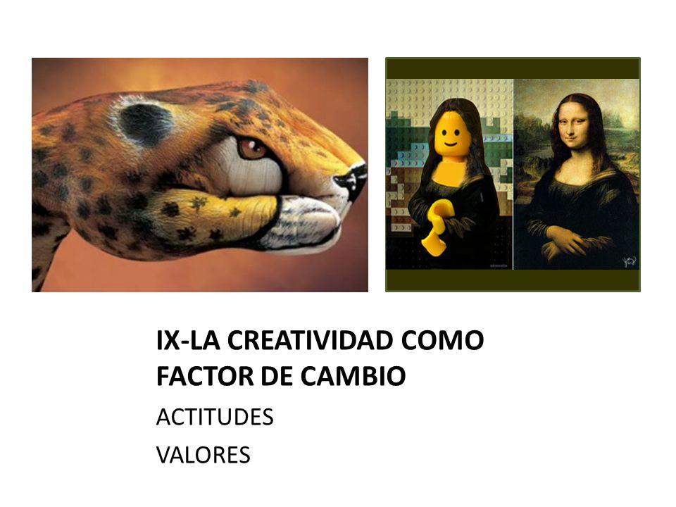 IX-LA CREATIVIDAD COMO FACTOR DE CAMBIO