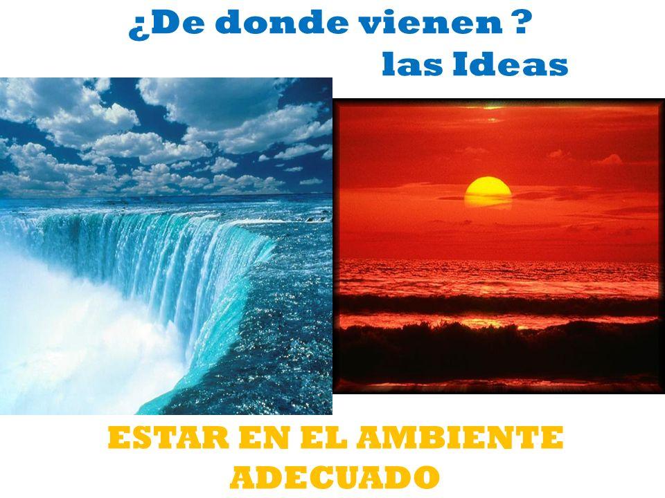 ¿De donde vienen las Ideas