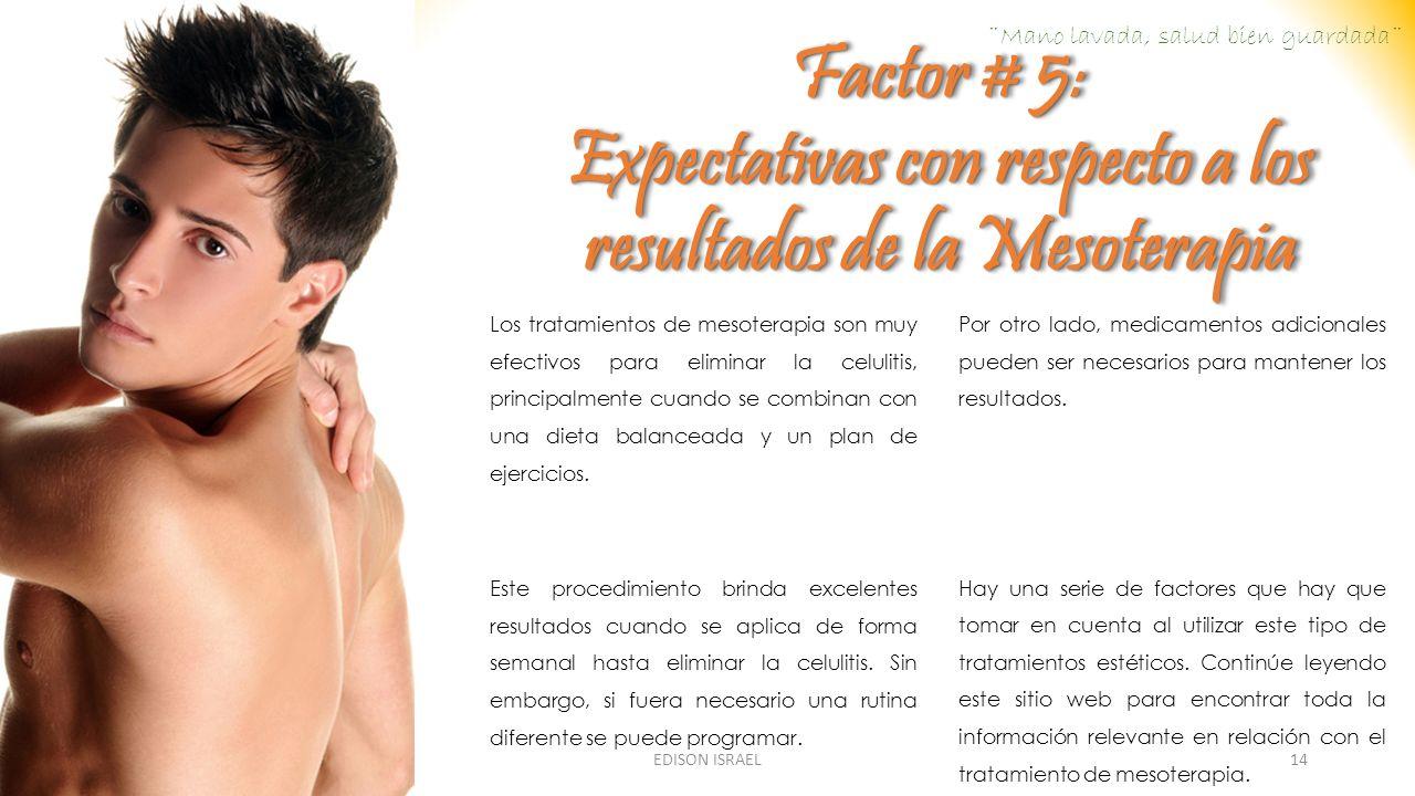Expectativas con respecto a los resultados de la Mesoterapia