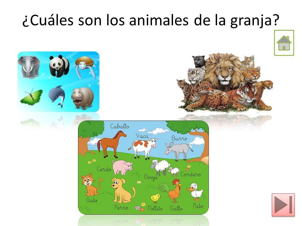 ¿Cuáles son los animales de la granja