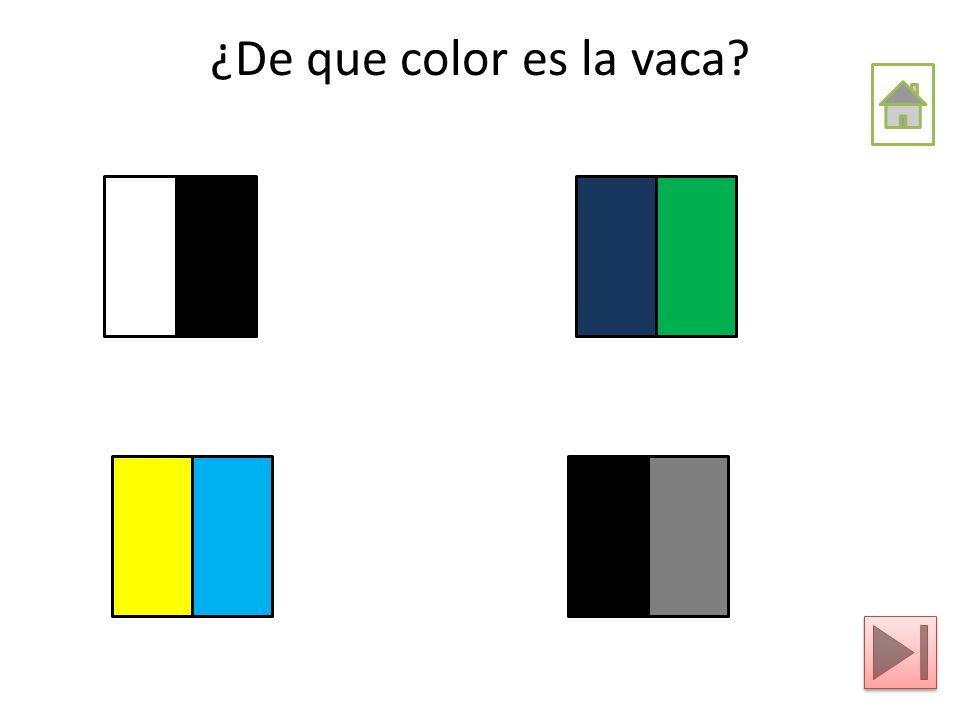 ¿De que color es la vaca