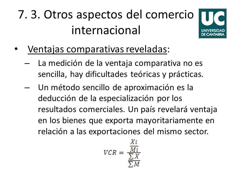 7. 3. Otros aspectos del comercio internacional